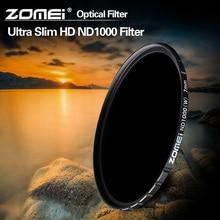 Zomei Filtro De Vidro Óptico Slim HD ND1000 52/58/67/72/77/82mm Câmera 10 stop Multi revestido Densidade Neutra filtro Para Canon Sony
