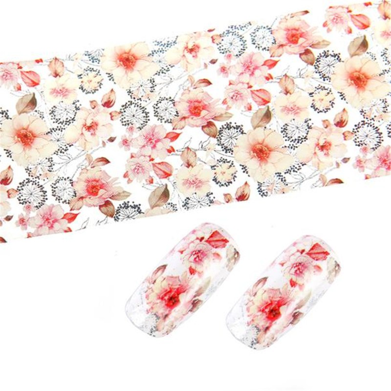 MANGE Flower DIY Decoration Design Nail Art Foil Stickers Transfer Decal Tips Manicure Sticker Tools