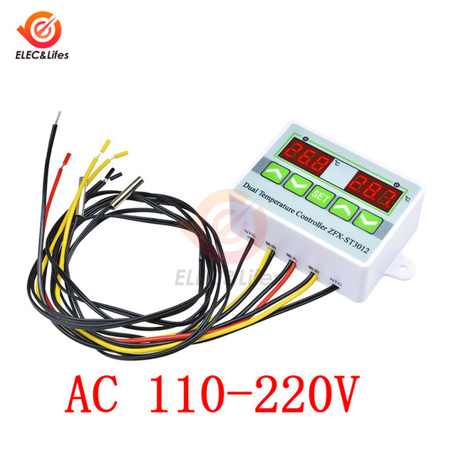 Universal DC 12V//110V-220V Digital Temperature Controller Thermostat with Sensor