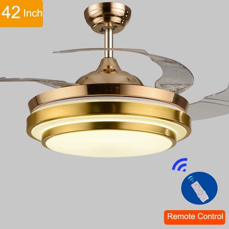 99 Off 2017 New Modern Led Ceiling Light Swimming Led: 110v/220v 42inch Living Room Modern Gold Fan Ceiling