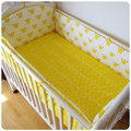 New Arrival 5 pcs/sets Baby Bedding Set Cotton Curtain Crib Bumper Baby Cotton Sets Children Bed Around Bumper and Sheets