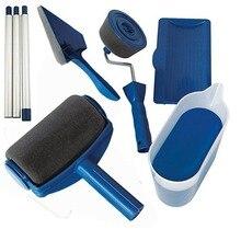 Новинка, 8 шт., многофункциональная декоративная краска для стен, роликовая кисть, ручка, инструмент для самостоятельной работы, простая в эксплуатации, кисть для нанесения краски, инструменты