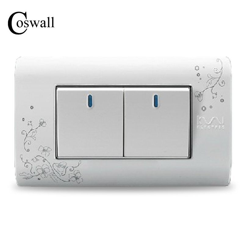 Free Shipping, Kempinski Luxury 2 Gang Wall Switch, Ivory White, Brief Art Pattern, Light Switch, 118*72mm, AC 110~250V the ivory white european super suction wall mounted gate unique smoke door