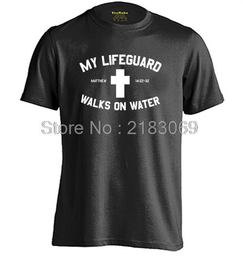 CHRISTIAN LIFEGUARD Mens & Womens Summer Cotton Letters