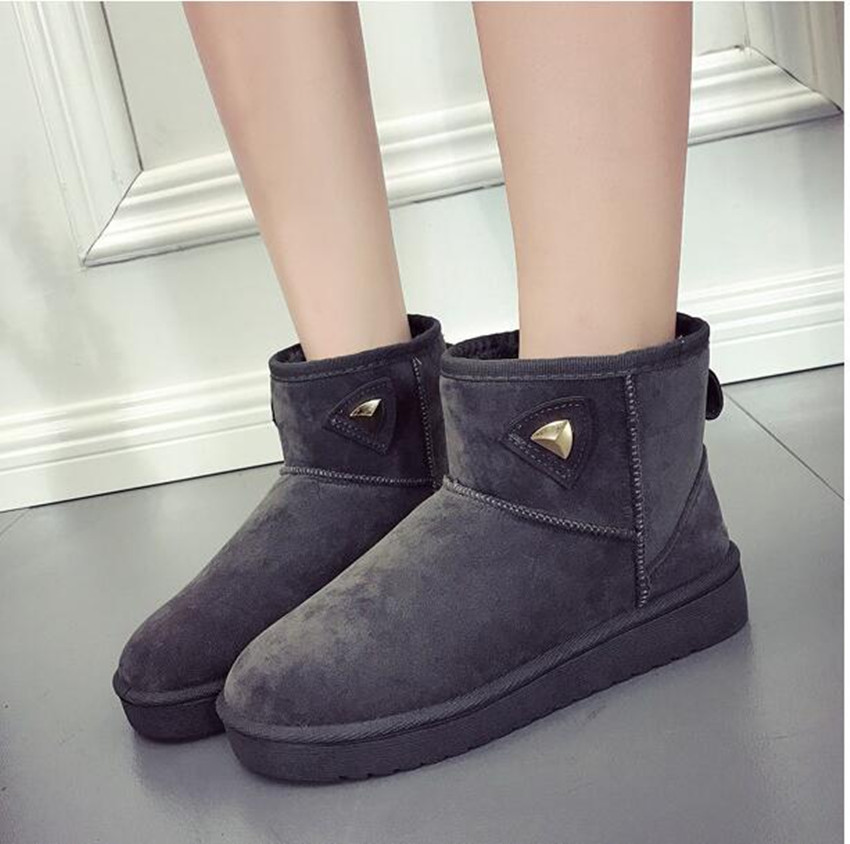 Snow boots female winter warm plus velvet female short tube thickening