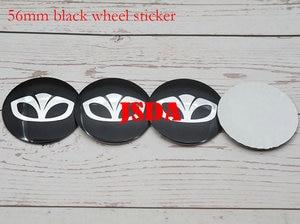 Image 2 - 4pcs 56mm 60mm Daewoo logo Car Wheel Center Cap auto rim refit Badge covers dust proof emblem sticker styling