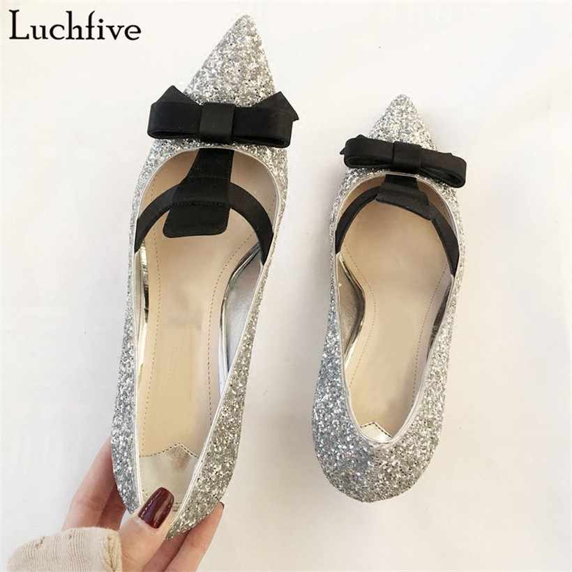 ... black glittery sequins Short boots shiny rainboots for. RELATED  PRODUCTS. Luchfive 2018 silver sexy bridal wedding shoes women bling bling  sequins decor ... fc92440e8519