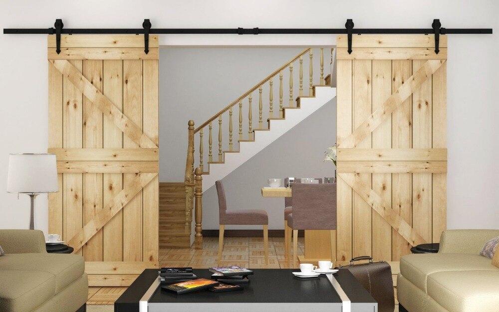 Popular double barn doors buy cheap double barn doors lots - Rail double porte coulissante ...