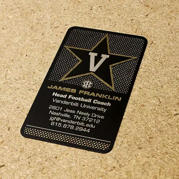 High Quality Stainless Steel Electroplated Matt Black Metal Business Card