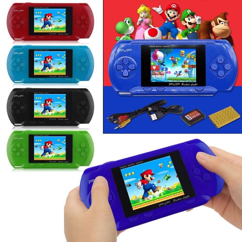 PVP 3000 Handheld Spiel Player Eingebaute 89 Spiele Tragbare Video 2,8 ''LCD Handheld Player Für Familie Mini Video Spiel konsole