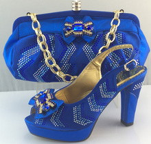 Fashion African Wedding Shoe And Bag Sets With Stones Pumps  Heels Shoes Italian Women Shoe And Bag To Match For Parties ME3308