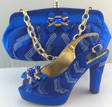 Mode Afrikanische Hochzeit Schuh Und Tasche Sets Mit Steine Pumps Heels schuhe Italienische Frauen Schuh Und Tasche Zu Passen Für Parteien ME3308
