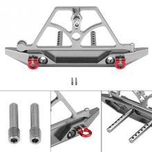 Hot Sale Metal RC Rear Bumper With Spare Tire Carrier For SCX10 Crawler Remote Control Car Accessories