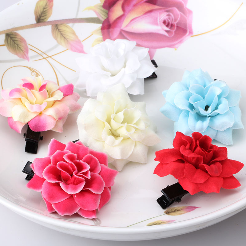 M MISM Lovely Artificial Flowers Cute Hairpins Hair Accessories Ornaments Hairgrip Hair Clips for Girls Kids Head Wear m mism classic nonwoven flower for kids hairgrip girls children cute hairpins hair accessories head wear hair clips