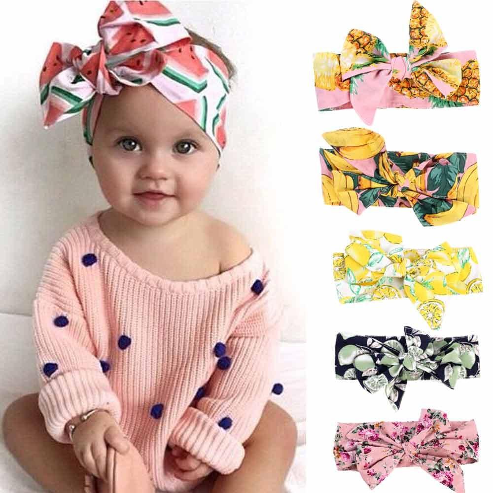 Baby Girl Headbands New Born Toddler Handmade Unique Accessories Peach Purple