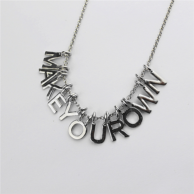 New popular gorgeous women accessories wholesale girls birthday party letter type pendant necklace gift shipping agent