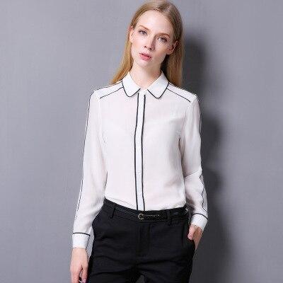 Camisa Seda Chaqueta Nuevo Black Gratis white De Envío 2018 paqRXX