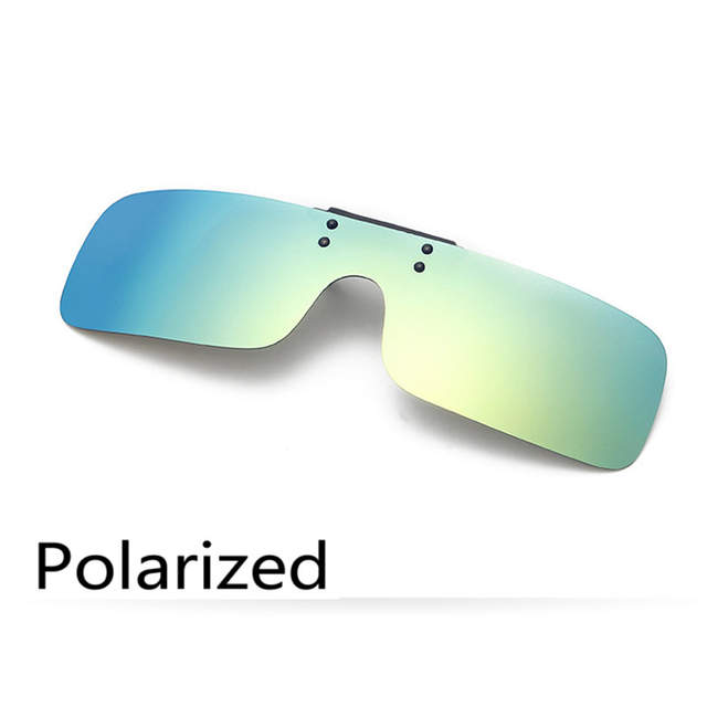 6c0e77d0e54 placeholder Polarized Clip on Sunglasses clip on glasses square Polaroid  Lens Men Women mirror Sun Glasses Night