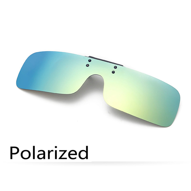 Polaroid Lente polarizada Clip sobre Óculos De Sol clip sobre óculos  quadrados Das Mulheres Dos Homens espelho óculos de Sol Óculos de Visão  Noturna de ... c320cc2c6b