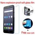 Nano a prueba de explosiones de vidrio blando clear lcd película protectora protector de pantalla para alcatel one touch pop star 3g 5022x 5022d 5022