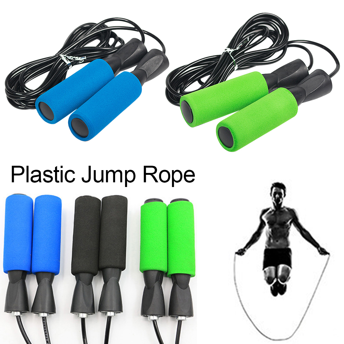 New Children Kids Skipping Rope With Stuffed Jump Fitness Exercise  Handle adult