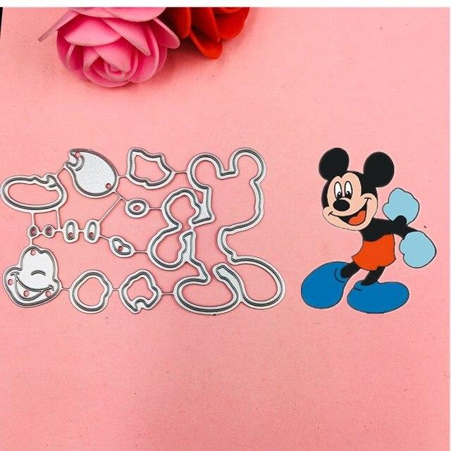 Mickey Minnie Arco Ouvido Corte Morre Stencils para Scrapbooking DIY/álbum de fotos Decorativo Embossing DIY Cartões de Papel