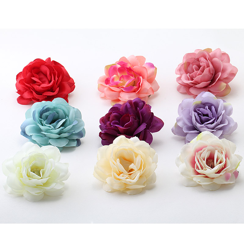 M MISM Artificial Flower Multicolor Hairgrip Hairpins Hair Accessories Ornaments Wedding Hair Clips for Kids Girls Head Wear m mism classic nonwoven flower for kids hairgrip girls children cute hairpins hair accessories head wear hair clips