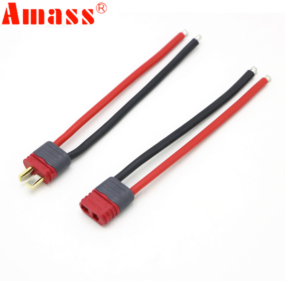 Amass T Plug Connector Male Female With Housing 10CM Silicone Wire 12AWG FPV Parts