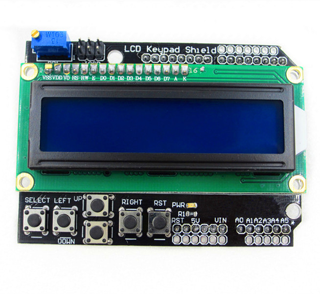 1pcs/lot LCD Keypad Shield LCD1602 character the LCD input and output expansion board UNO MEGA2560 favourite 1602 1f
