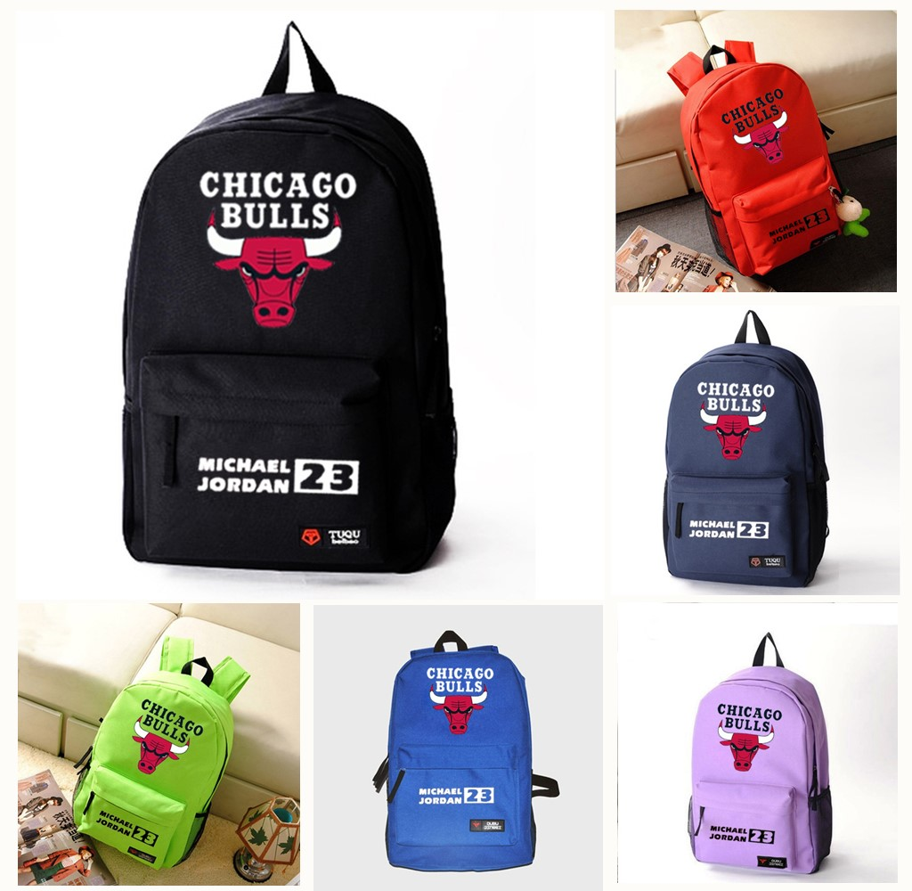 d4e14f195b CHICAGO BULLS Shoulder Bags for Young Women and Men Fashion Students School  Bags Leisure Backpack Travel