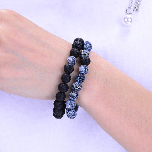 2Pcs/Set Couples Jewelry Classic Distance Bracelet  1
