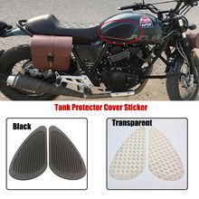 C-FUN Pair Motorcycle Cafe Racer Fuel Tank Cap Pad Protector Rubber Decal Sticker Universal Brown