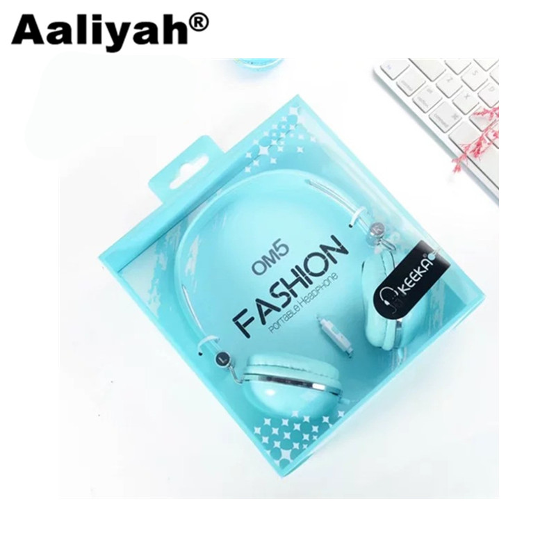 [Aaliyah]  3.5mm Stereo Music Mega Bass Headphone Headset Headband Big Earphone Earbuds with Microphone For Phone xiaomi