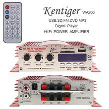12V Hallo-fi Digital Led-anzeige 2 Kanäle Auto Stereo Verstärker FM Radio Player Unterstützung USB / SD / FM / MMC / DVD / MP3 Eingang