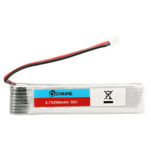 6PCS Eachine 3.7V 200mah 30C Lipo Battery With Charger