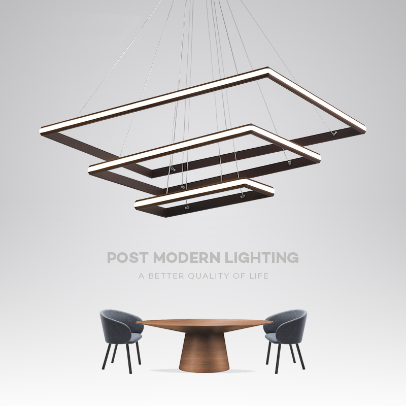 Brown White Minimalism Nordic style LED Pendant Lights for Dining Kitchen Living Room Hanging Suspension Pendant