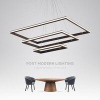 Коричневый/белый минимализм скандинавский стиль светодио дный светодиодные подвесные светильники для столовой кухни гостиная подвесная П