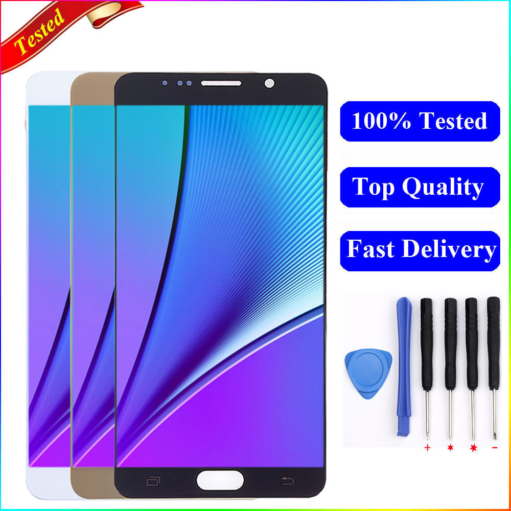 N920f Lcd For SAMSUNG Galaxy Note 5 N920 N920F N920A N920C LCD Display Touch Screen Digitizer For Samsung Note 5 N920 Display