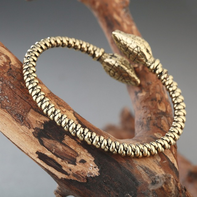 Bracelet Viking tête de mort serpent 3