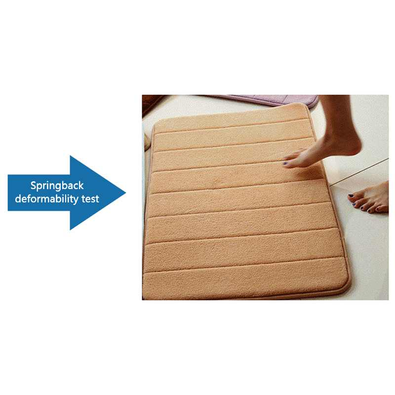 Memória Espuma de Absorção De Tapete de Banheiro Tapete de banho Tapete Antiderrapante Tapete de Banheiro Porta Da Cozinha Piso Coral Fleece 40*60cm