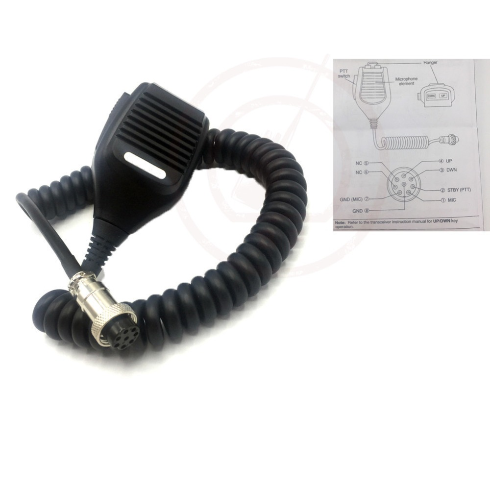 for kenwood mc 43s 8 pin dynamic hand fist microphone up down buttons amateur [ 1000 x 1000 Pixel ]