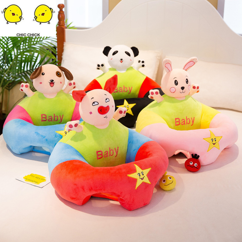 New Infant Toddler Kids Baby Support Seat Sit Up Soft Chair Cushion Sofa Plush Pillow Toy Bean Bag Animal Sofa Seat in Movies TV from Toys Hobbies