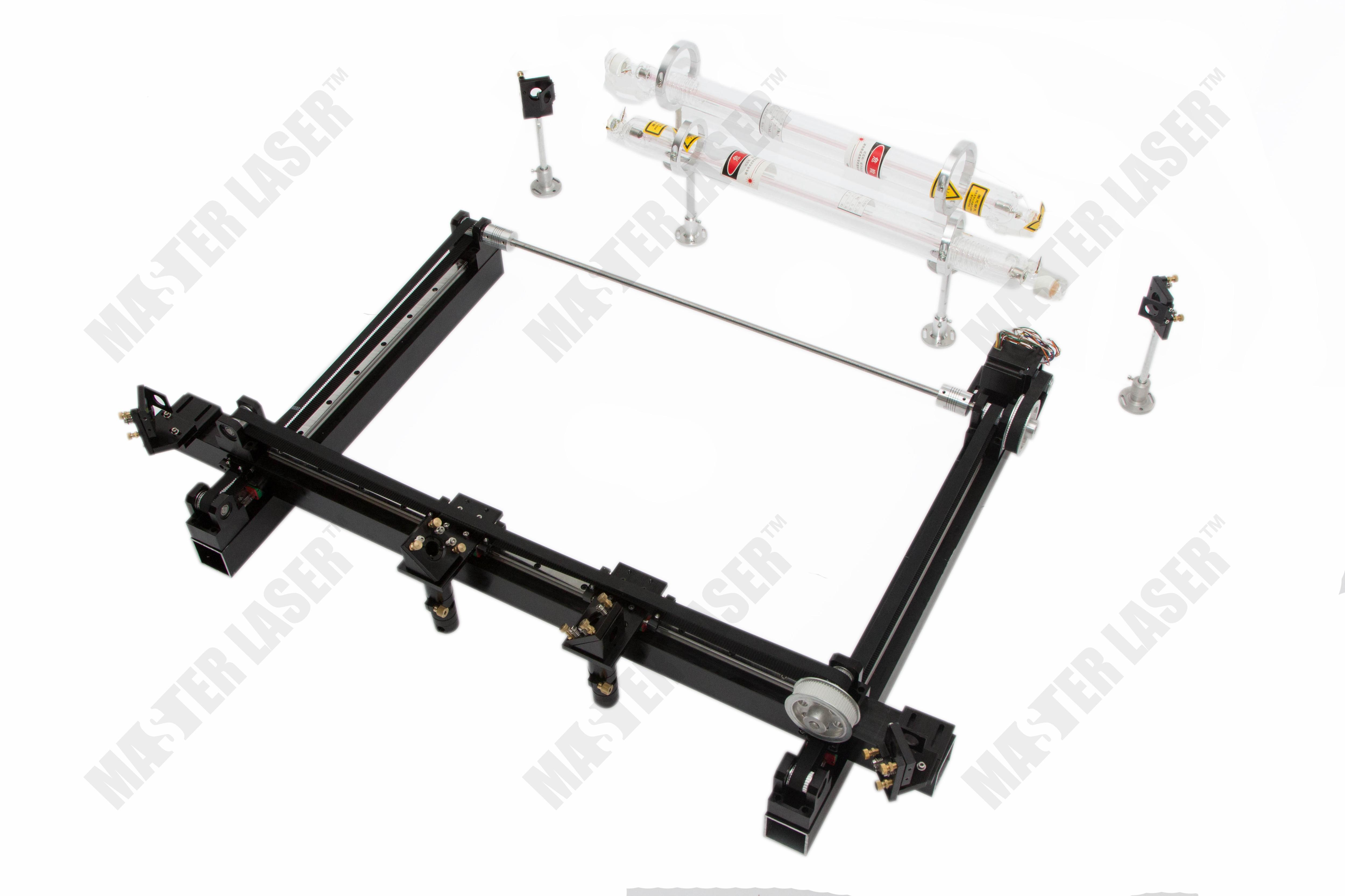 цена Best Quality Work Table 100*80 CO2 Laser Cutting Machine for Wood Crafts Mirror Mount 2 Laser Heads онлайн в 2017 году