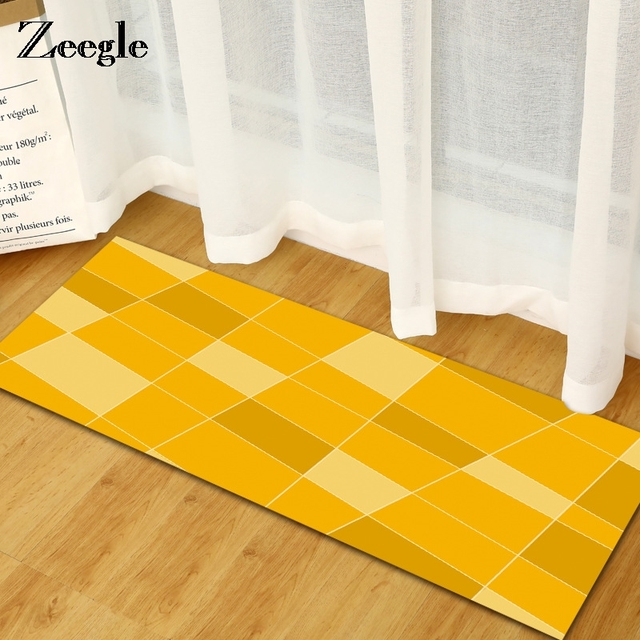 Zeegle Kitchen Mat Floor Mat Welcome Door Mat Non slip Bedroom ...
