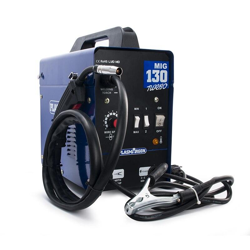 MIG 130 Schweißer 220 Amp Inverter MIG ARC Gas Gaslose Schweißen Maschine