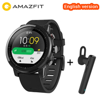 Original Xiaomi Huami Amazfit Stratos Smart Sports Watch 2 English Version Smartwatch 5ATM Waterproof GPS Glonass Wristwatch