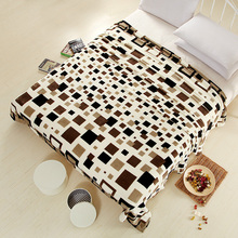 2016 New super soft air condition coral fleece flannel fabric blanket baby sofa throw plaid cartoon