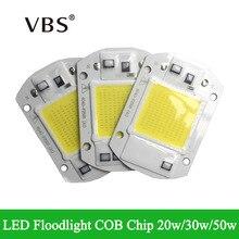 Интегрированный умный IC драйвер светодиодный COB чипы с высоким световым потоком IP65 20 Вт 30 Вт 50 Вт AC110V 220-240 В для DIY светодиодный прожектор