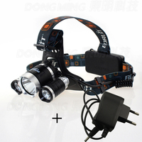 3 Led 4modes Headlamp CREE XML T6 5000 Lumen Head Flashlight Rechargeable 18650 Headlight Frontale Lamp