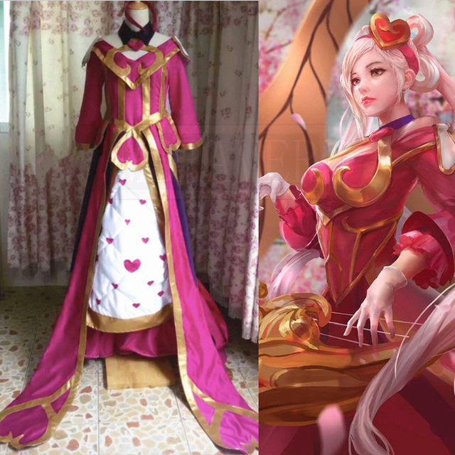 lol sweetheart sona buvelle maven of the strings valentine skins cosplay costume - Valentine Costumes